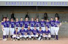 Lanesville Eagles Girls Varsity Softball Spring 17-18 team photo.