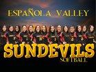 Espanola Valley Sundevils Girls Varsity Softball Spring 17-18 team photo.