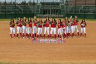 The Woodlands Highlanders Girls Varsity Softball Spring 17-18 team photo.