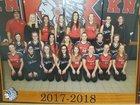 North Knox Warriors Girls Varsity Softball Spring 17-18 team photo.