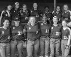 Bearden Bulldogs Girls Varsity Softball Spring 17-18 team photo.