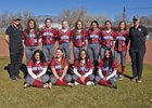 Sandia Prep Sundevils Girls Varsity Softball Spring 17-18 team photo.