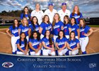Christian Brothers Falcons Girls Varsity Softball Spring 17-18 team photo.