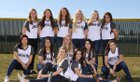 Gonzaga Prep Bullpups Girls Varsity Softball Spring 17-18 team photo.