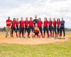 Beekmantown Eagles Girls Varsity Softball Spring 17-18 team photo.