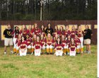 Perry Central Bulldogs Girls Varsity Softball Spring 17-18 team photo.