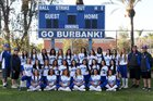 Burbank Bulldogs Girls Varsity Softball Spring 17-18 team photo.