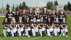 Kentwood Conquerors Girls Varsity Softball Spring 17-18 team photo.