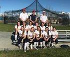 Quincy Trojans Girls Varsity Softball Spring 17-18 team photo.