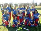 Freedom Patriots Girls Varsity Softball Spring 17-18 team photo.