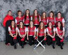 Jamesville-DeWitt Red Rams Girls Varsity Softball Spring 17-18 team photo.