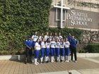 Seattle Prep Panthers Girls Varsity Softball Spring 17-18 team photo.