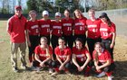 Heber Springs Panthers Girls Varsity Softball Spring 17-18 team photo.