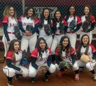 Rio Grande Ravens Girls Varsity Softball Spring 17-18 team photo.