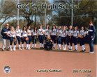Gridley Bulldogs Girls Varsity Softball Spring 17-18 team photo.