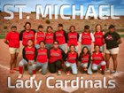 St. Michael Cardinals Girls Varsity Softball Spring 17-18 team photo.