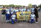 St. Regis Falls Saints Girls Varsity Softball Spring 17-18 team photo.