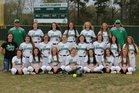 Genoa Central Dragons Girls Varsity Softball Spring 17-18 team photo.
