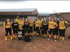 Emerson Pirates Girls Varsity Softball Spring 17-18 team photo.