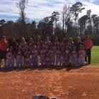 Nashville Scrappers Girls Varsity Softball Spring 17-18 team photo.