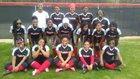 McClellan Crimson Lions Girls Varsity Softball Spring 17-18 team photo.