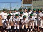 Yuma Catholic Shamrocks Girls Varsity Softball Spring 17-18 team photo.