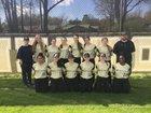 Jonesboro Hurricane Girls Varsity Softball Spring 17-18 team photo.