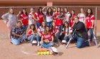 Estancia Bears Girls Varsity Softball Spring 17-18 team photo.