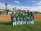 Hilltop Lancers Girls Varsity Softball Spring 17-18 team photo.