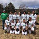 Mora Rangers/Rangerettes Girls Varsity Softball Spring 17-18 team photo.