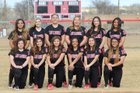 Robertson Cardinals Girls Varsity Softball Spring 17-18 team photo.