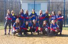 South Spencer Rebels Girls Varsity Softball Spring 17-18 team photo.