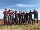 Clarendon Hall Saints Girls Varsity Softball Spring 17-18 team photo.