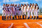Keys Gate Knights Girls Varsity Softball Spring 17-18 team photo.