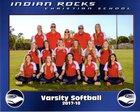 Indian Rocks Christian Golden Eagles Girls Varsity Softball Spring 17-18 team photo.