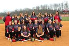 Jac-Cen-Del Eagles Girls Varsity Softball Spring 17-18 team photo.