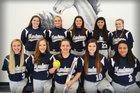 Buffalo Island Central Mustangs Girls Varsity Softball Spring 17-18 team photo.