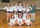 Pine Creek Eagles Girls JV Volleyball Fall 17-18 team photo.