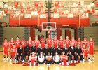 Mater Dei Monarchs Boys Varsity Basketball Winter 13-14 team photo.