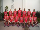Redondo Union Sea Hawks Boys Varsity Basketball Winter 13-14 team photo.
