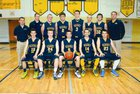 Negaunee Miners Boys Varsity Basketball Winter 13-14 team photo.