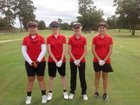 Currituck County Knights Girls Varsity Golf Fall 15-16 team photo.