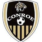 Conroe Tigers Boys Varsity Soccer Winter 17-18 team photo.