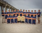 Gulf Breeze Dolphins Boys Varsity Soccer Winter 17-18 team photo.