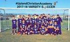 United Christian Academy Eagles Boys Varsity Soccer Winter 17-18 team photo.
