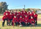Pomona Red Devils Boys Varsity Soccer Winter 17-18 team photo.