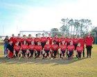 New Smyrna Beach Barracudas Boys Varsity Soccer Winter 17-18 team photo.