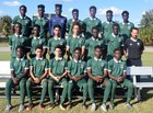Evans Trojans Boys Varsity Soccer Winter 17-18 team photo.