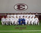 Ennis Lions Boys Varsity Soccer Winter 17-18 team photo.