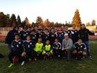 Heritage Patriots Boys Varsity Soccer Winter 17-18 team photo.